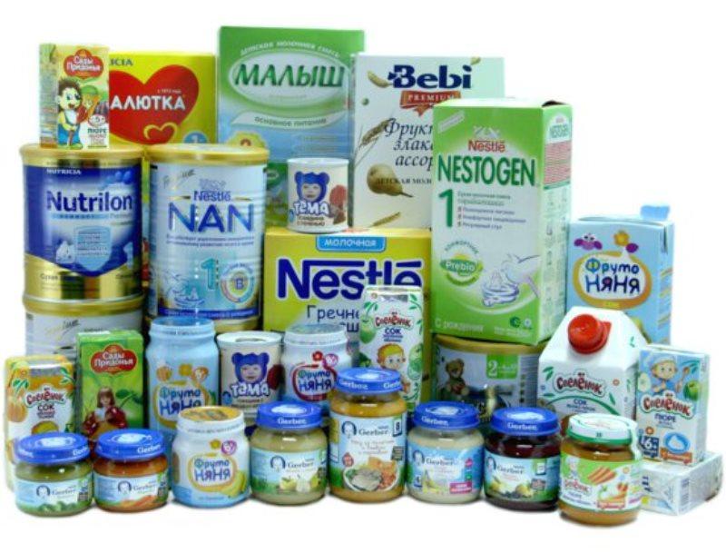 Детское питание и средства гигиены ...